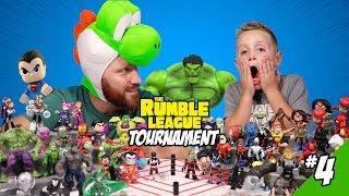 Superman, Hulk & Yoshi OH MY! Super Hero Team Rumble League Tournament #4 by KIDCITY