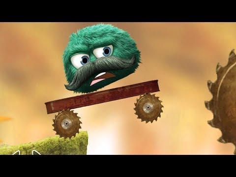 Несносный Зеленый Шарик пушистик лесное приключение в игре Leo's Fortune