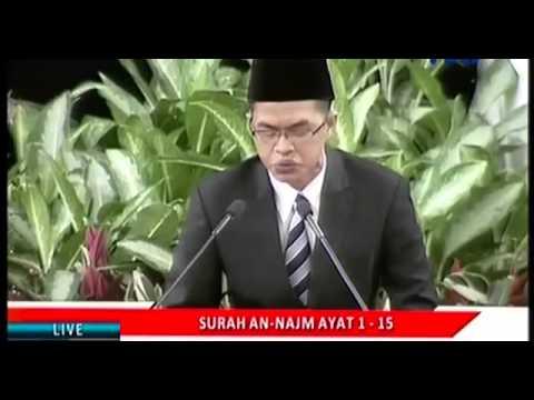 Tilawah Al Quran Langgam Jawa - Peringatan Isra' Mi'raj Di Istana Negara - Konyolkah? MC-nya Keliru