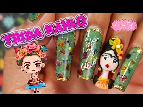 Frida Kahlo Nail Art 3D