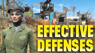 FALLOUT 4 - Building effective defenses and automated door PS4 - Mods