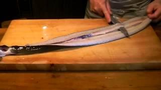 《天然鰻(ウナギ)の捌き方》・・・・大和の 和の料理《 魚のさばき方》