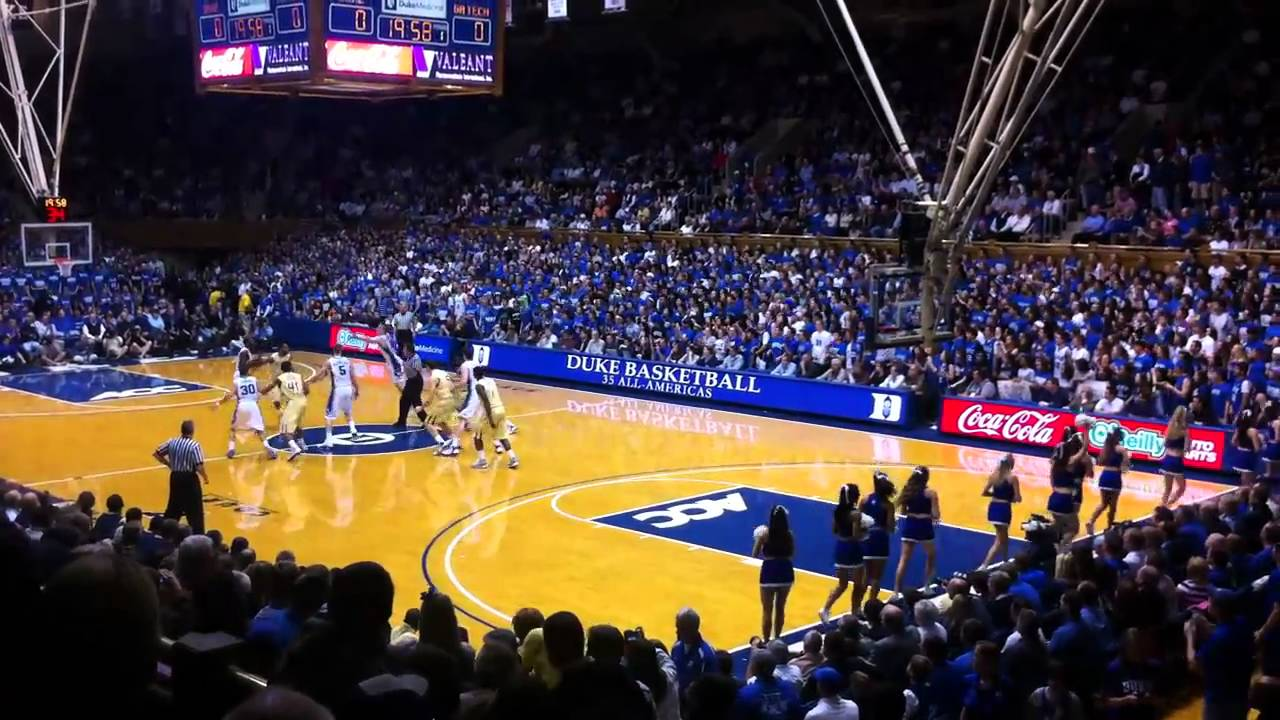 Tip Off In Cameron Indoor Stadium Duke Vs Georgia Tech 2