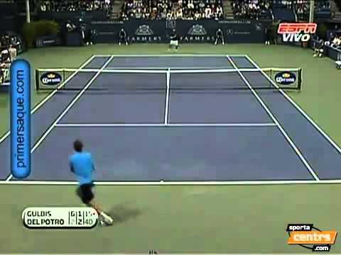 ATP Los Angeles2011_ Ernests Gulbis vs Juan Martin Del Potro  (Highlights)