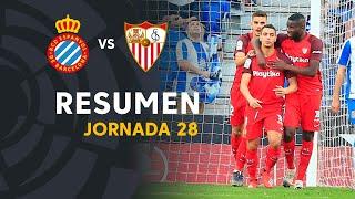 Resumen de RCD Espanyol vs Sevilla FC (0-1)