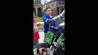 Bad ass lil kids want listen and broke my dirt bike