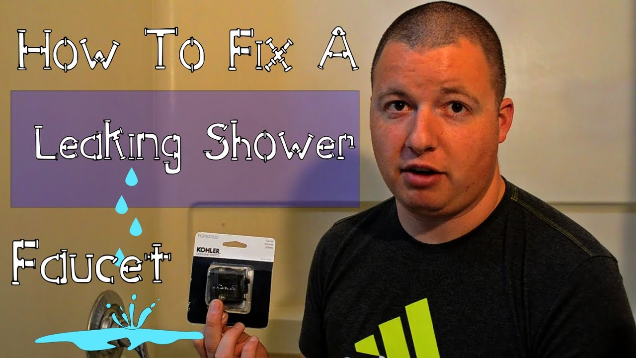 How To Fix A Leaking Shower Faucet- DIY - YouTube