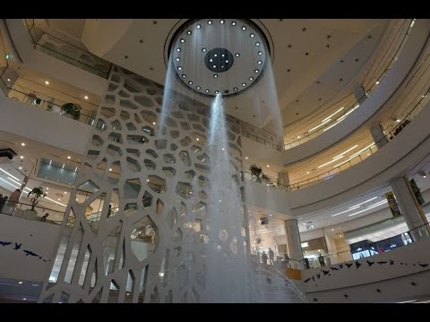 Musical water fountain at LOTTE Department Store - Busan