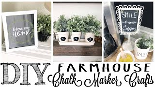 DIY Farmhouse Chalk Marker Crafts | 3 PROJECTS!