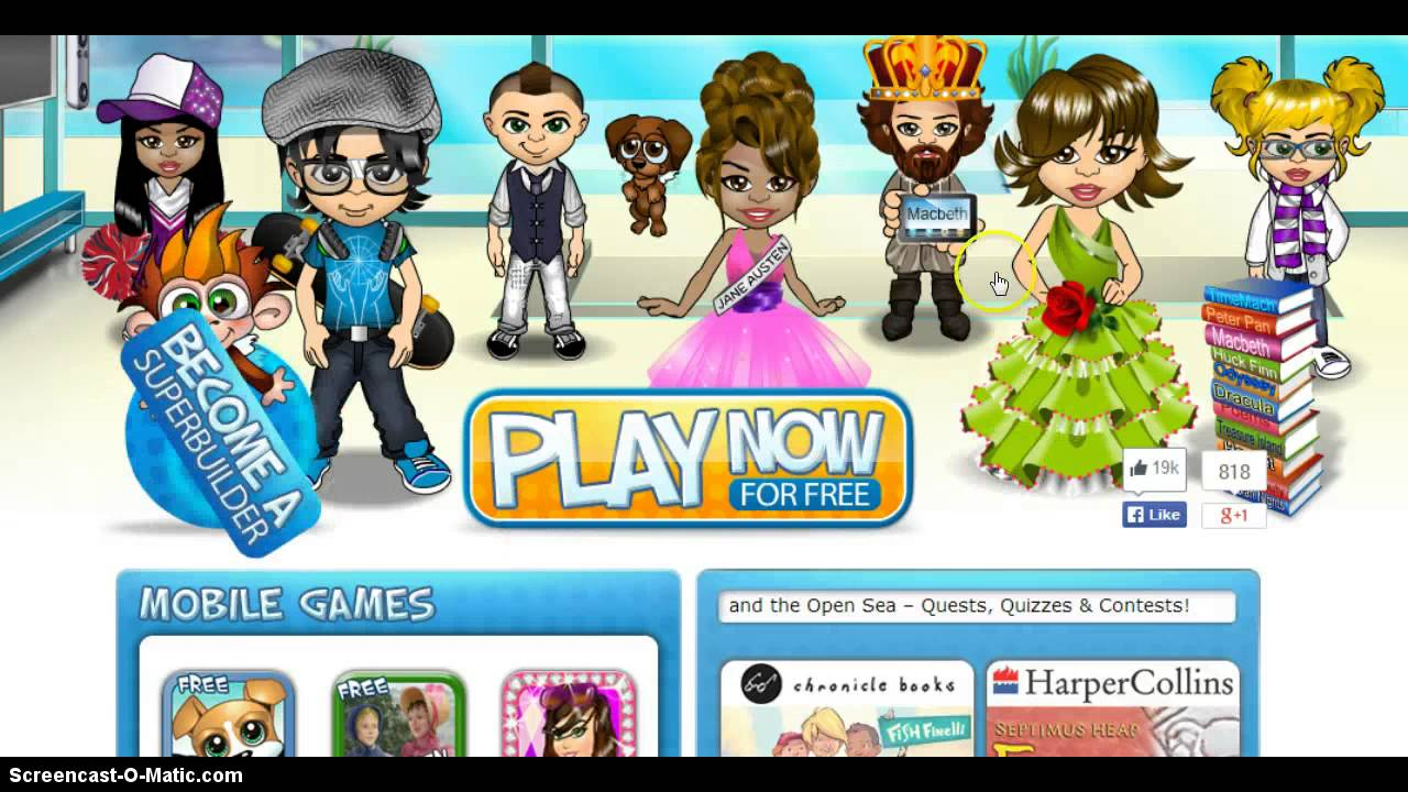 Virtual Worlds For Tweens With Avatars For Free