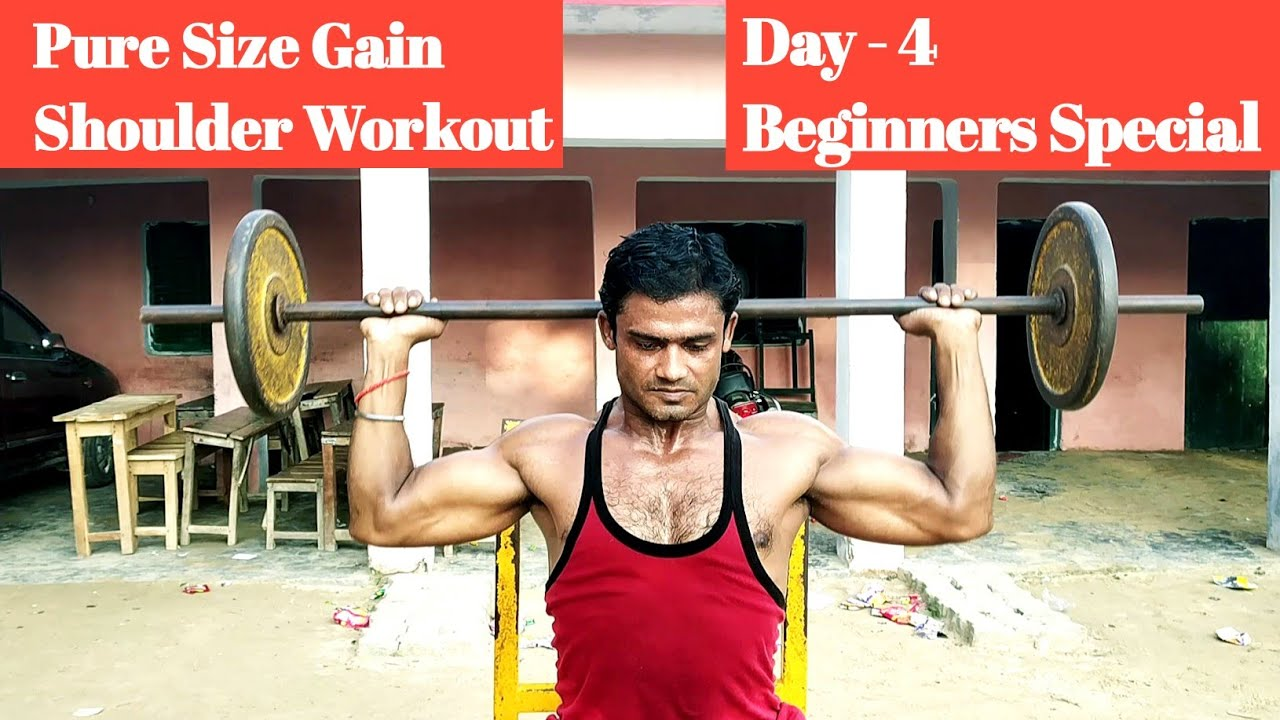 Shoulder Workout For Mass. Day - 4 . Beginners Special