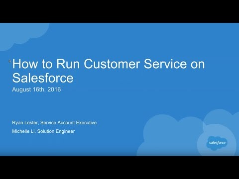 How to Run Your Customer Service on Salesforce