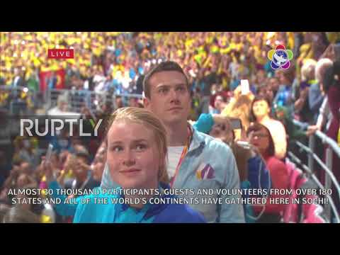 Russia: Putin greets participants of the XIX International Festival of Youth and Students in Sochi