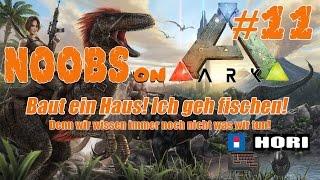Noobs on Ark Ps4 #11 Baut ein Haus! Ich geh fischen! Tac4
