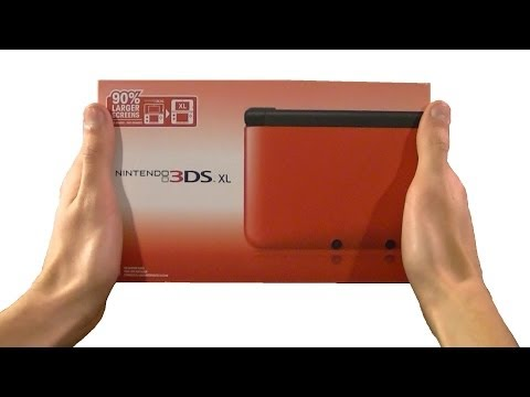 Nintendo 3DS XL - Red & Black Unboxing