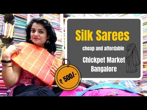 Cheap Price Silk Sarees || Shopping At Chickpet || Really Worth ??