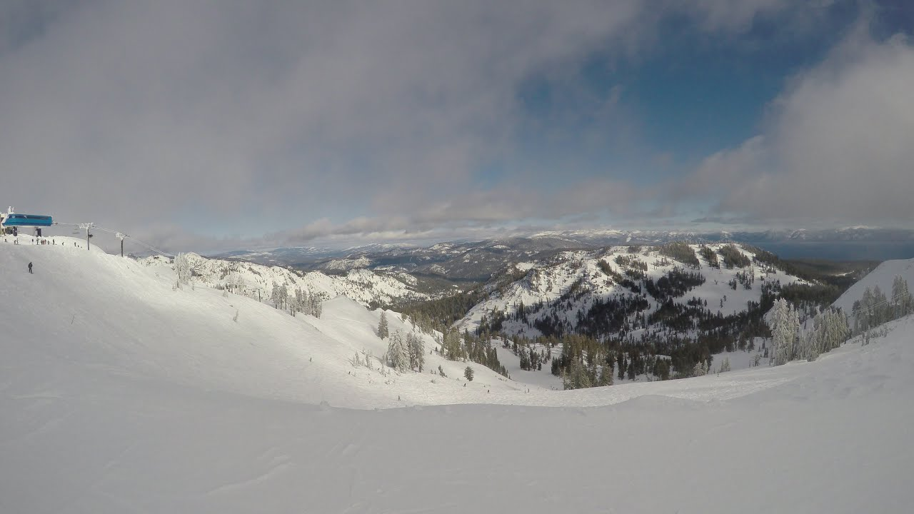 4k alpine meadows top of summit express to apline bowl to rock