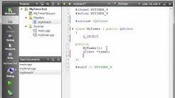 C++ Qt 27 - QTimer