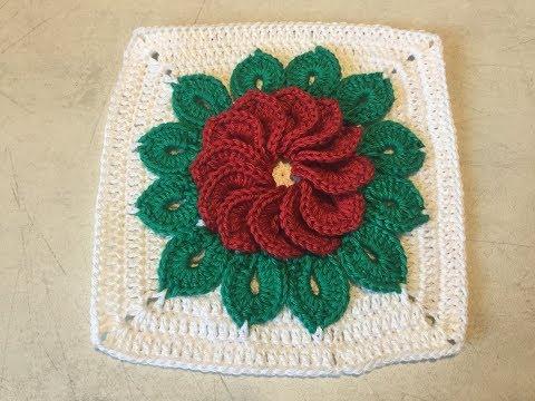 Tuto granny superbe fleur au crochet