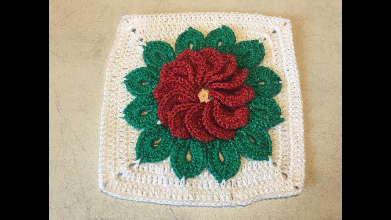Tuto Granny Superbe Fleur Au Crochet Youtube