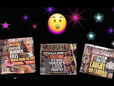 One Hour Quiet ASMR 🎧 Browsing, Commenting The National Enquirer & Globe Tabloid, compilation
