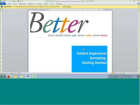 Patient Experience Surveying: Outpatient Mental Health and Addiction Services