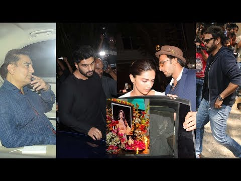 Bollywood, Tollywood & Kollywood Celebs at Anil Kapoor residence to pay homage to Sridevi | #Sridevi