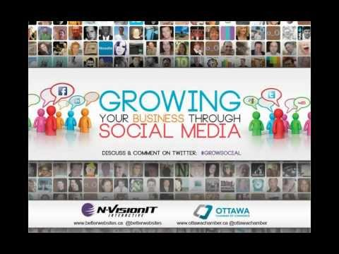 Growing Your Business Through Social Media Webinar, hosted by Ottawa Chamber of Commerce