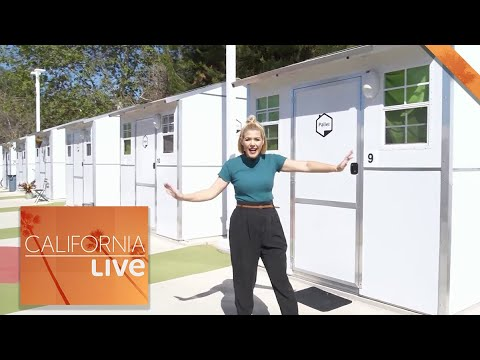 Download LA's First Tiny Home Village to House Homeless   California Live   NBCLA