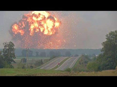 Massive explosion at Ukrainian military ammunitions depot