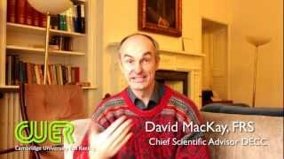 David MacKay supports CUER
