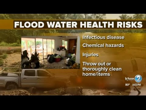 Health risks due to flood waters