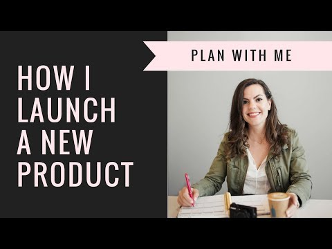PLAN WITH ME | May 2018 | New Product Launch, Meal Planning and Small Business Life