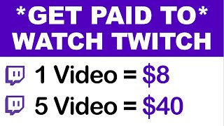 Download Earn $8.00+ Every Twitch Video You Watch (FREE) - Make Money Watching Videos   @Branson Tay