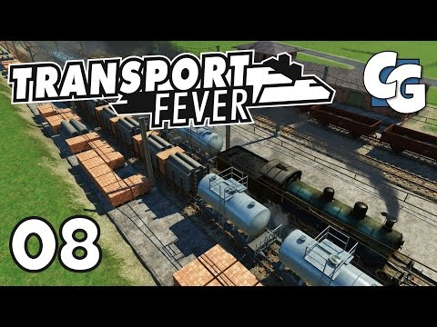 Transport Fever - Ep. 8 - Mega Train Depot - Transport Fever Gameplay