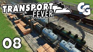 Transport Fever - Ep. 8 - Mega Train Depot - Transport Fever Gameplay