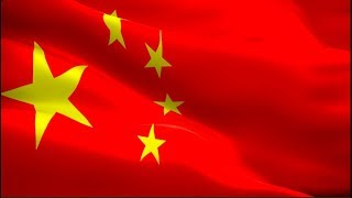 Chinese flag Closeup 1080p Full HD 1920X1080 footage video waving in wind. Buy China flag HD