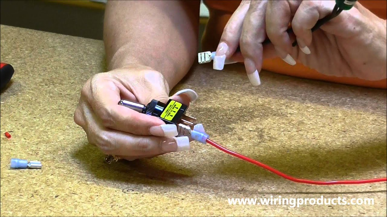 LED Toggle Switch for automotive use with Wiring Products YouTube
