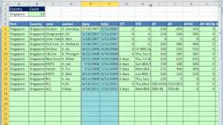 Excel 2010 Magic Trick 818: Extract Records For Each Country To A New Sheet With Formula