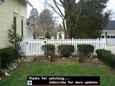 Vinyl Fencing For Gardens Fences Gates Design For Garden YouTube