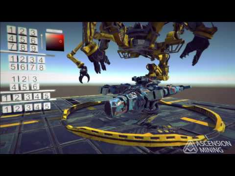 Ascension Mining Ship Assembly Crane Demo