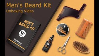 Maybaue Men's Beard Grooming and Trimming Kit Unboxing