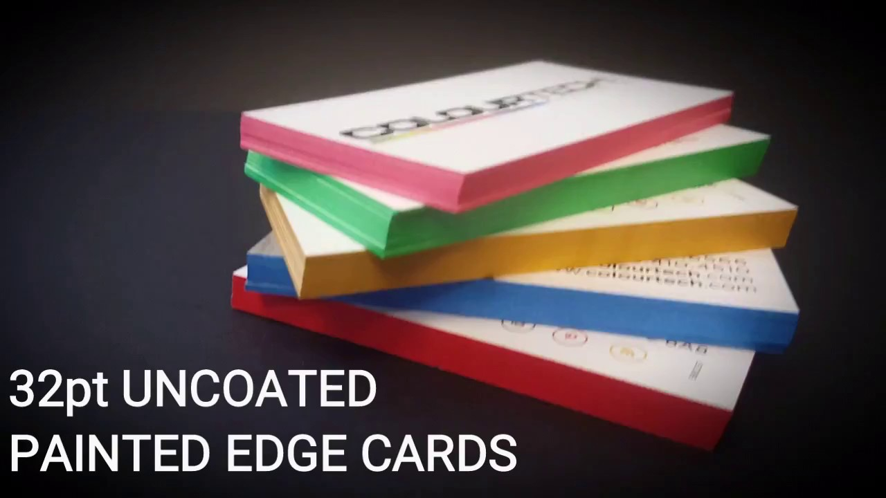 32pt Uncoated Painted Edge Cards - YouTube
