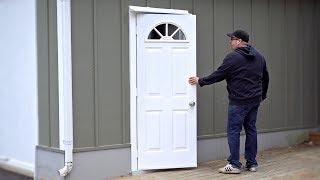 Installing A More Energy Efficient Door On My Shop