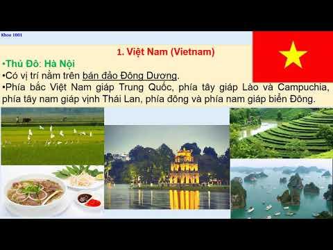 11 quốc gia Đông Nam Á (tên gọi, thủ đô, quốc kỳ, vị trí)