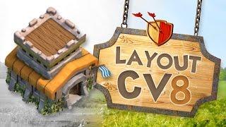 Clash of Clans - Layout Cv8 Push/Guerra (2016)