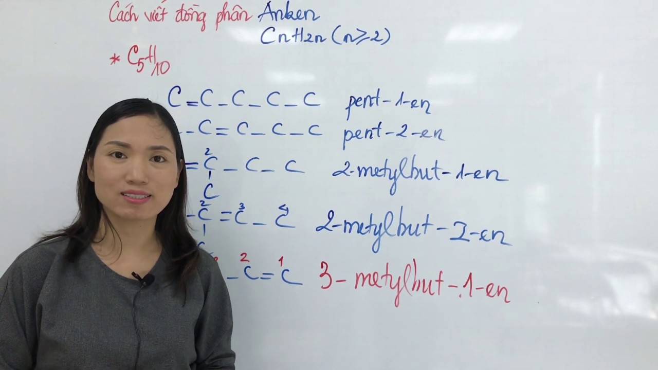 Cách Viết Công Thức Cấu Tạo Và Gọi Tên Đồng Phân AnKen | Hóa Học 11
