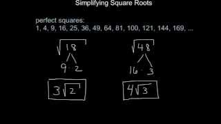 Geometry: How to Simṗlify Square Roots