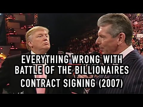 Episode #210: Everything Wrong With WWE Segments: Trump/McMahon Contract Signing