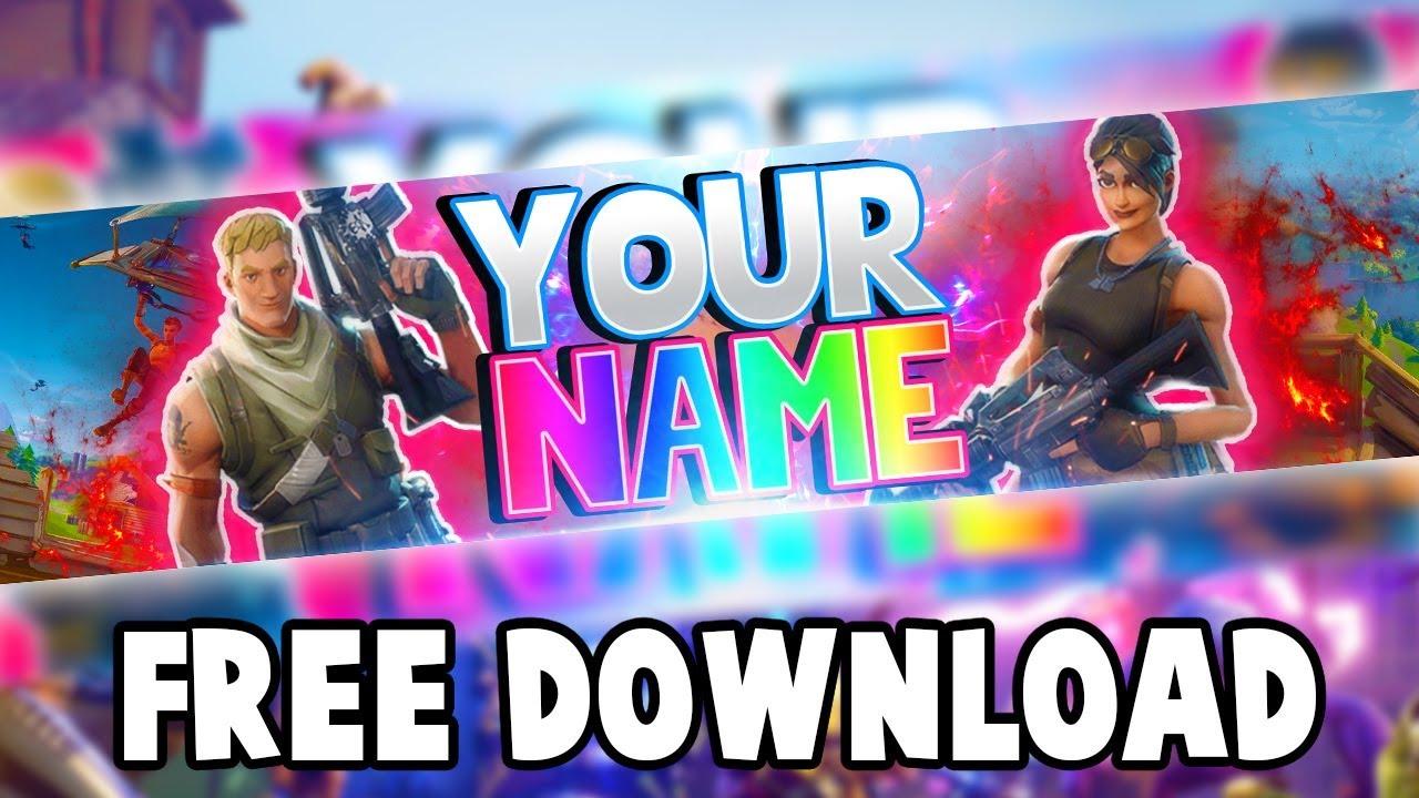Free Fortnite Banner Template Fortnite Battle Royale Youtube